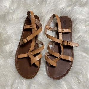 MOSSIMO SUPPLY CO • Tan Brown Multi Strap Sandals